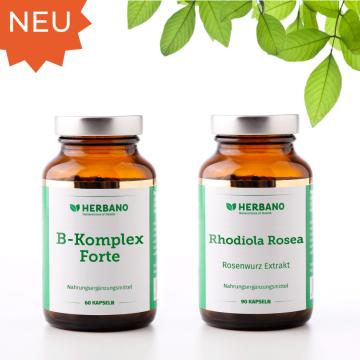 Anti-Stress-Paket mit Vitamin B und Rhodiola