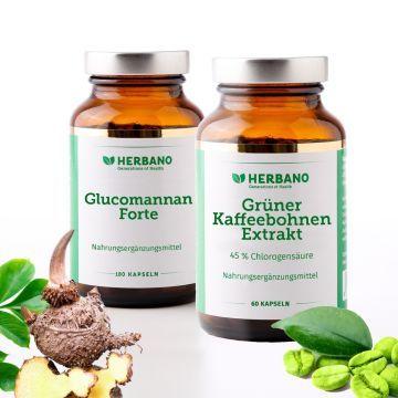 Natürlich-schlank-Paket mit Glucomannan und Grüner Kaffee Kapseln