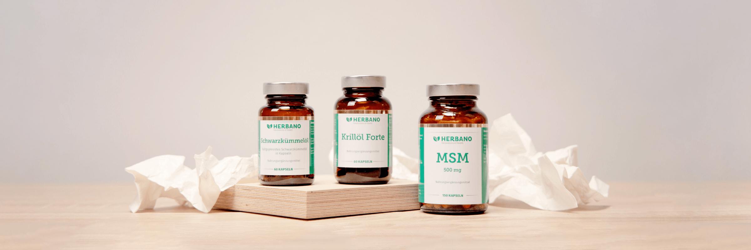 Krilloel, Schwarzkuemmeloel und MSM gegen Heuschnupfen